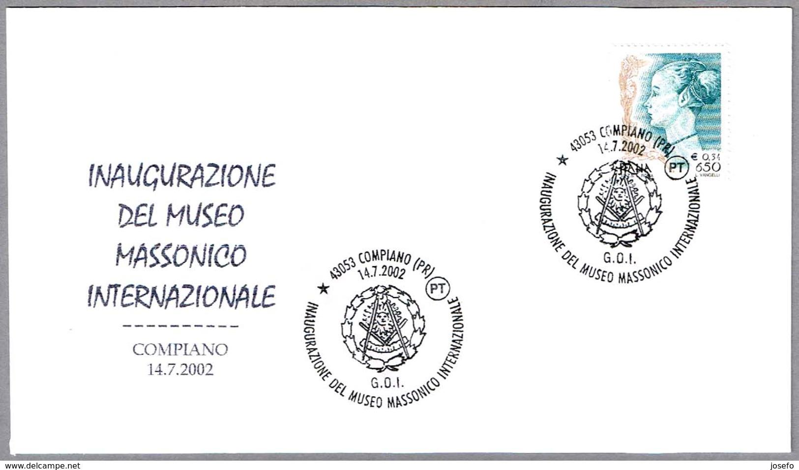 INAUGURACION MUSEO MASONICO INTERNACIONAL - Masonic Museum. Compiano 2002 - Francmasonería