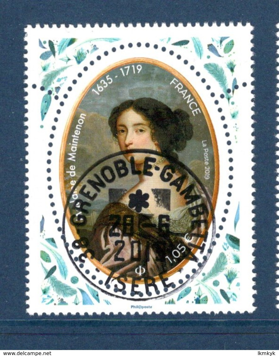 France 2019.Madame De Maintenon.Cachet Rond Gomme D'Origine. - Oblitérés