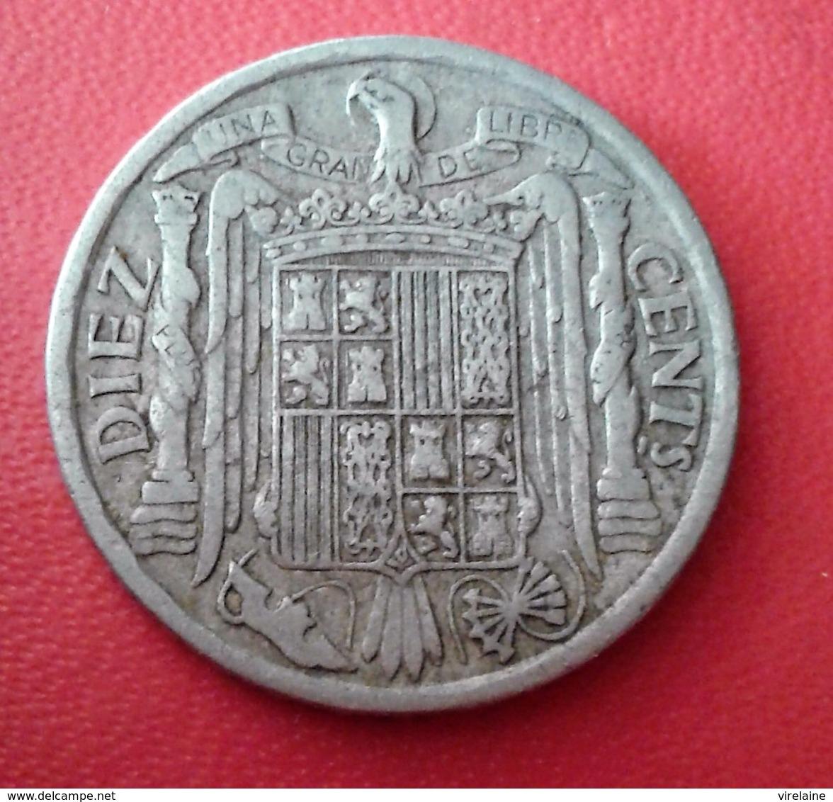 ESPAGNE 10 CENTIMOS 1940 N° 229D - 10 Centimos