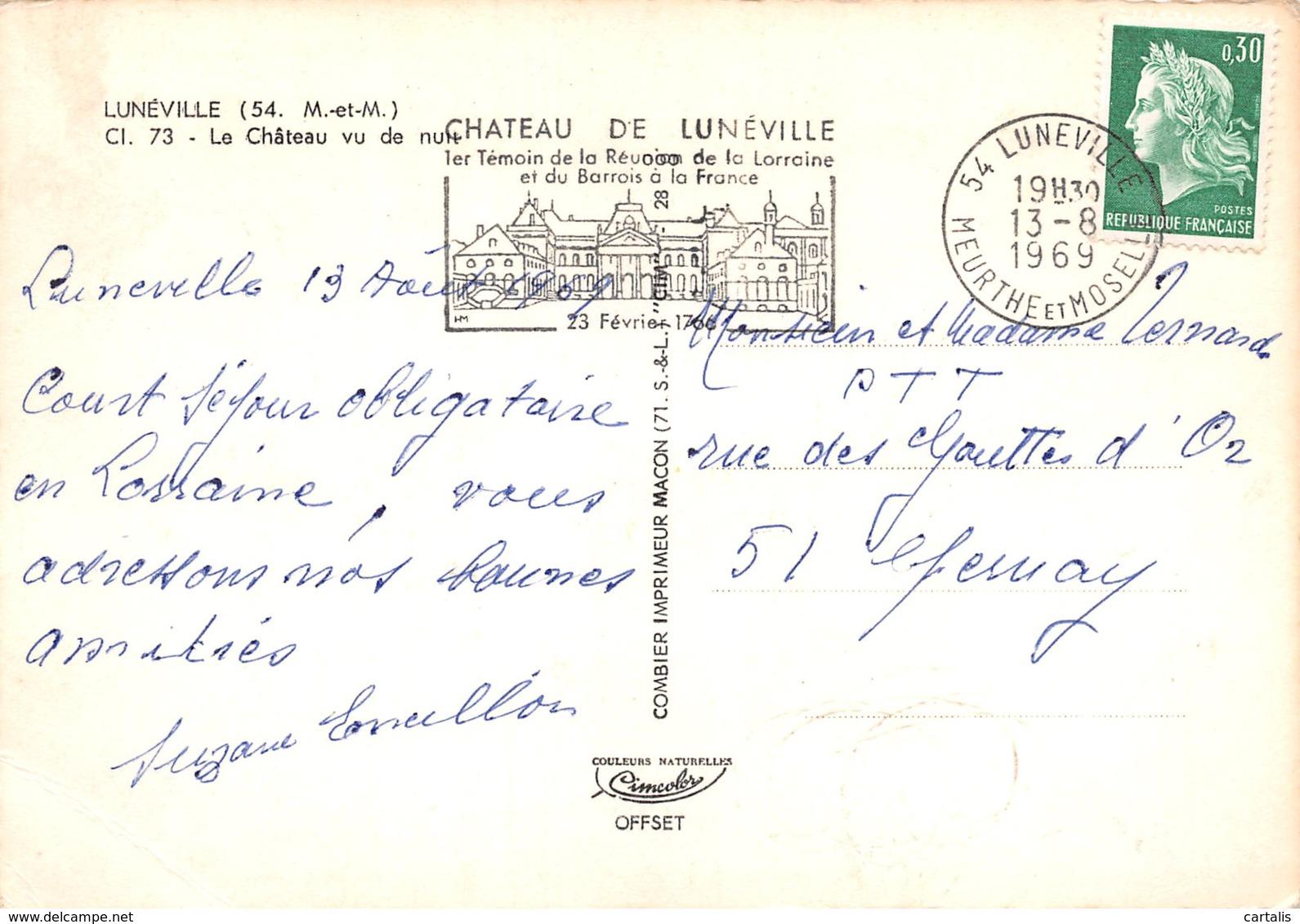 54-LUNEVILLE-N°3774-C/0225 - Luneville
