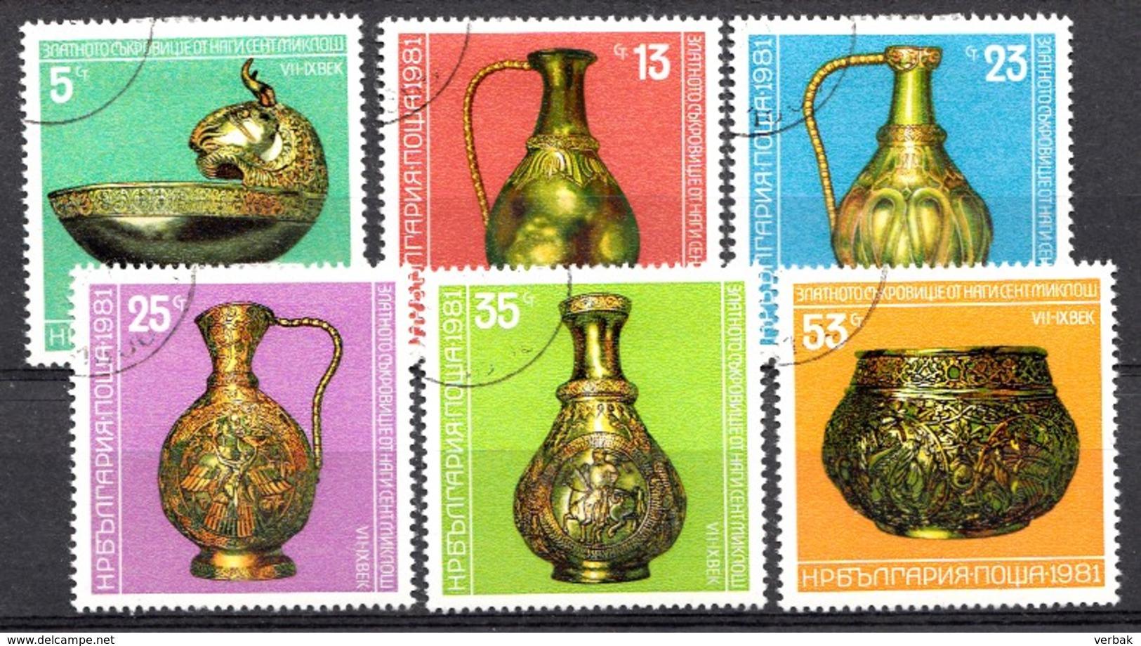 BULGARIE 1981 Mi.nr.: 3015-3020 Goldschatz Von Nagyszentmiklos  Oblitérés / Used / Gestempeld - Usati