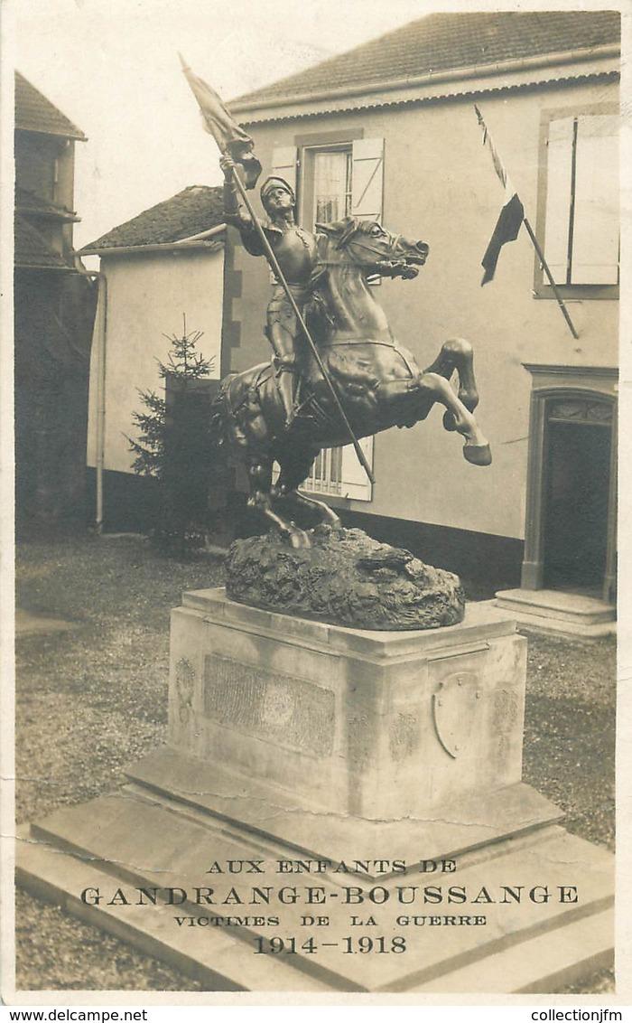 "CARTE PHOTO  FRANCE 57 ""Gandrange Boussange, Monument Aux Morts"" - Otros Municipios"