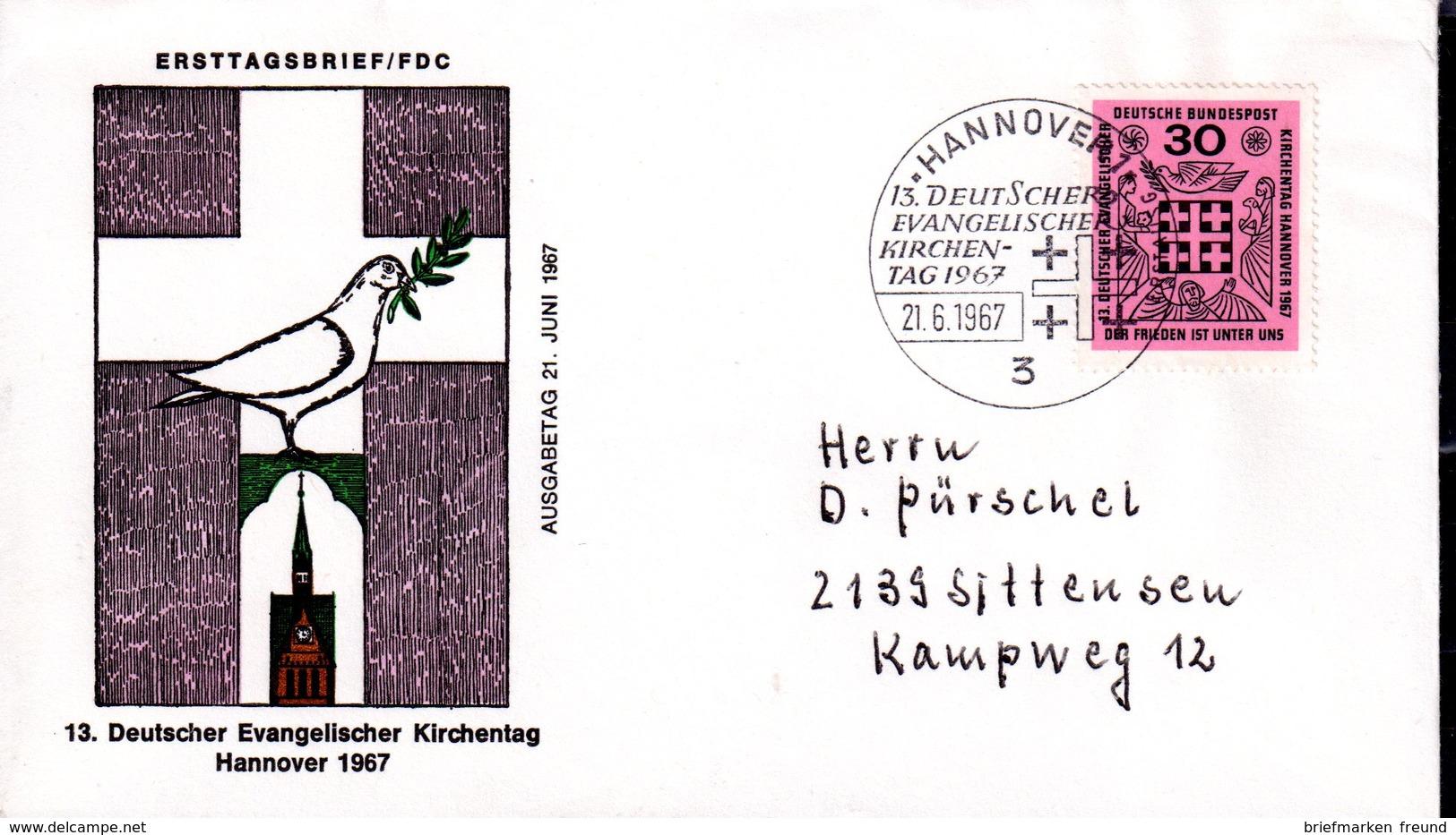 Bund 1967 Mi. 536 Als FDC (pü3190) - [7] République Fédérale
