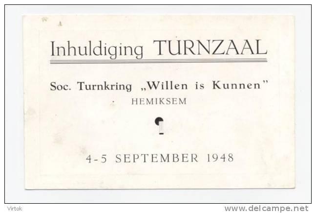 Hemiksem : Inhuldiging Turnzaal 1948 - Hemiksem