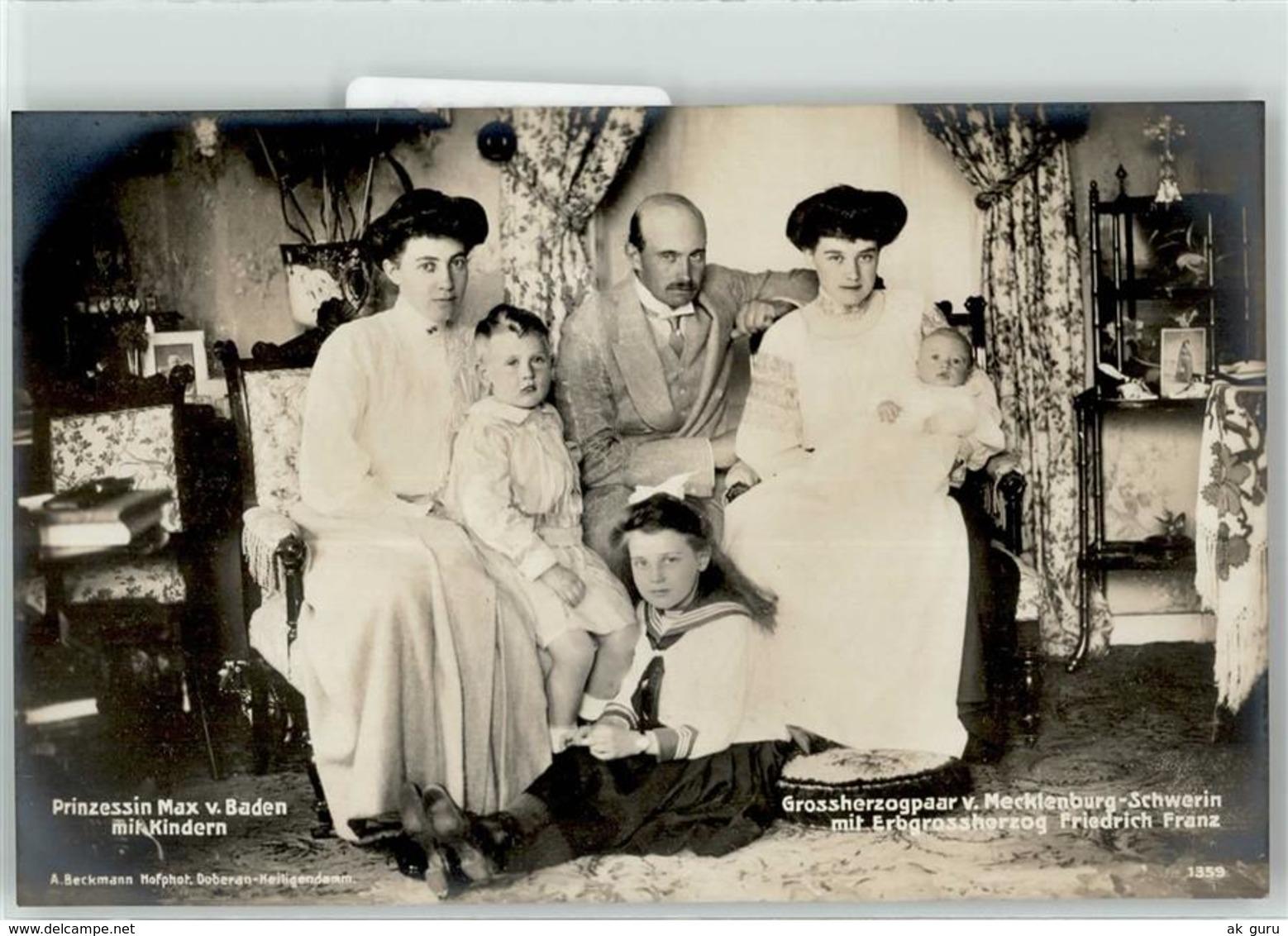 53029082 - Grossherzogenpaar Mecklenburg-Schwerin Prinzessin Max Von Baden - Familles Royales