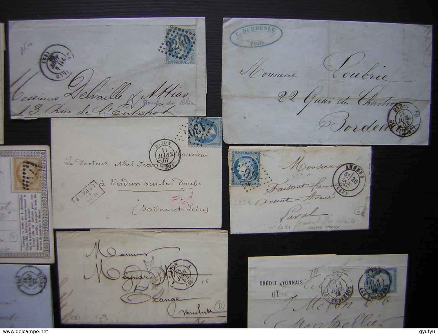 Lot De 20 Lettres Et Cartes Précurseur Affranchies Avec Des Classiques Napoléon Cérès Ou Sans Timbre, Taxées - Marcophilie (Lettres)