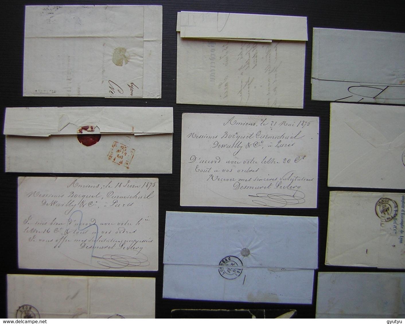 Lot De 20 Lettres Et Cartes Précurseur Affranchies Avec Des Classiques Napoléon Cérès Ou Sans Timbre, Taxées - Postmark Collection (Covers)