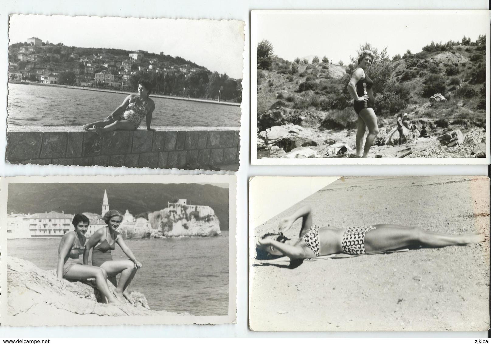 LOT - 19 Photos ( 14 Cm - 8.5/9 Cm ) GIRLS,Pin-Ups, WOMEN IN SWIMSUITS ON THE BEACH 1955/70.costume Da Bagno - Pin-ups