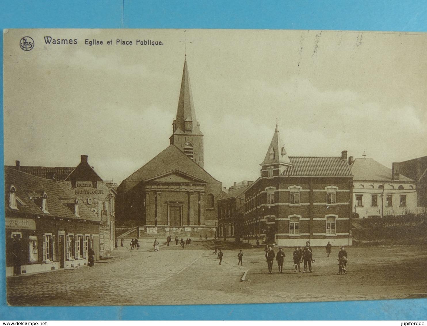 Wasmes Eglise Et Place Publique - Colfontaine