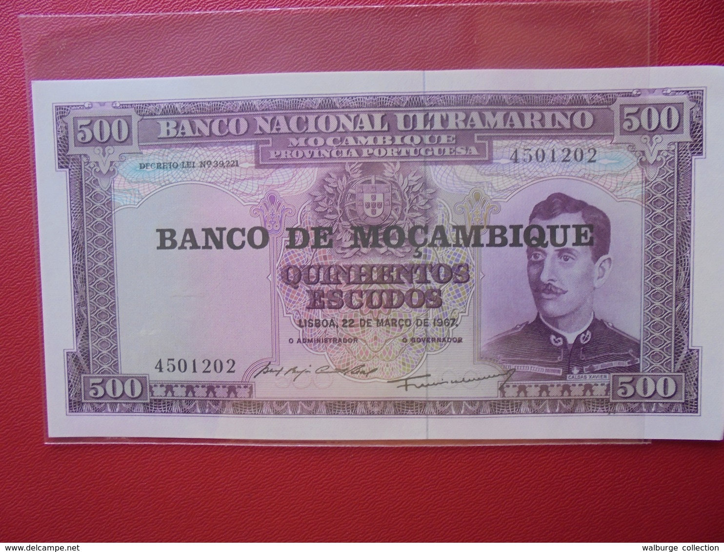 MOZAMBIQUE 500 ESCUDOS 1967 PEU CIRCULER/NEUF - Mozambique
