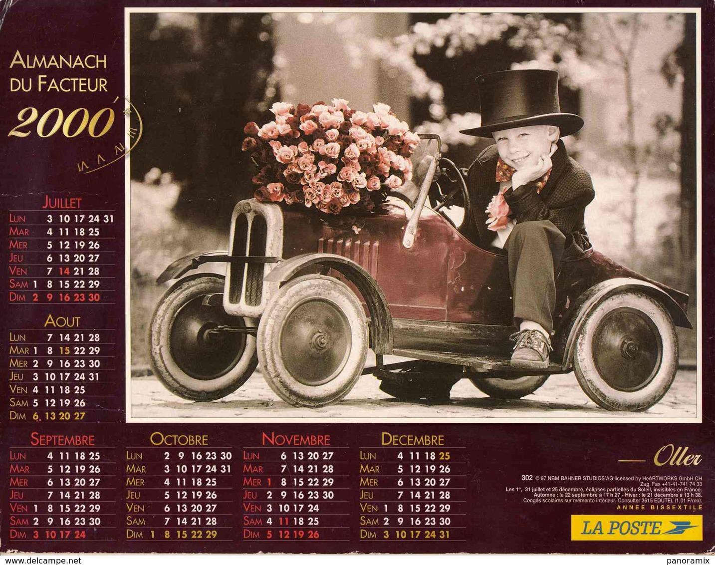°° Calendrier Almanach La Poste 2000 Oller - Dépt 72 - Enfants - Grand Format : 1991-00