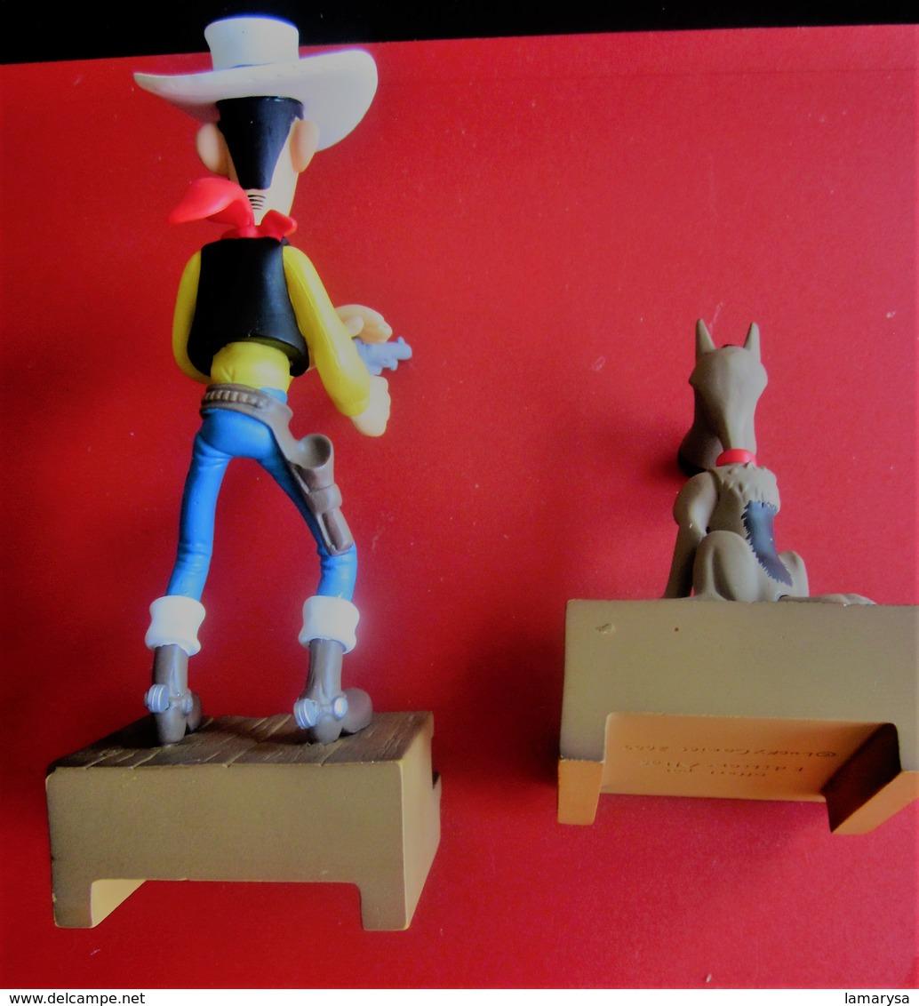 Figurines  Bandes Dessinées SCHLEICH LUCKY LUKE & RANTANPLAN EN RESINE PUBLICITAIRE ATLAS MORRIS 2009 - Andere