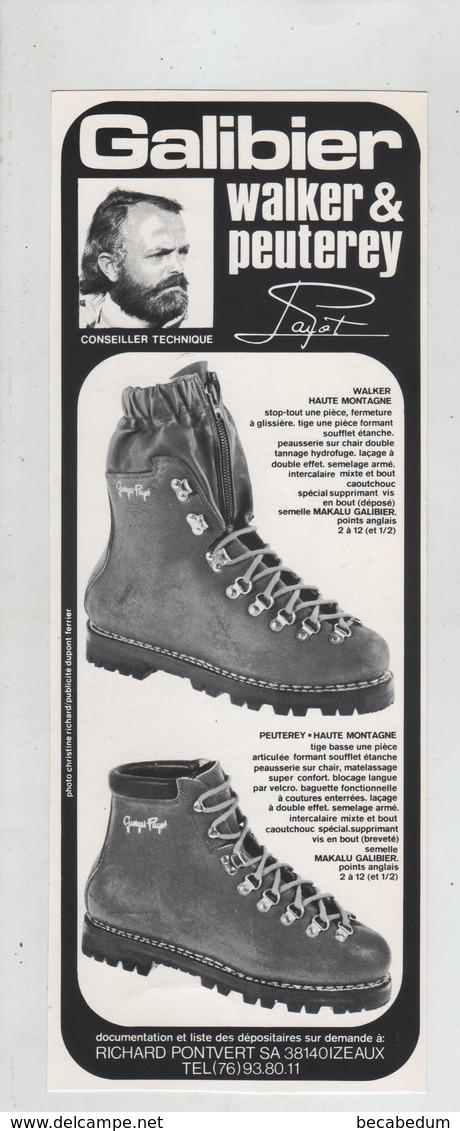 Publicité Galibier Pontvert  Izeaux Walker Peuterey Payot - Werbung