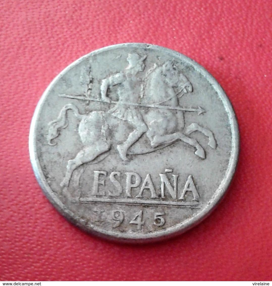 ESPAGNE 10 CENTIMOS 1945 N° 230D - 10 Centimos