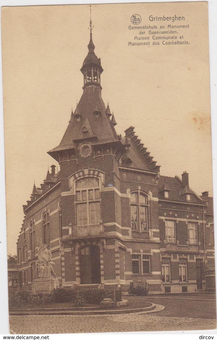 Grimbergen - Gemeentehuis En Monument Der Gesneuvelden - Grimbergen