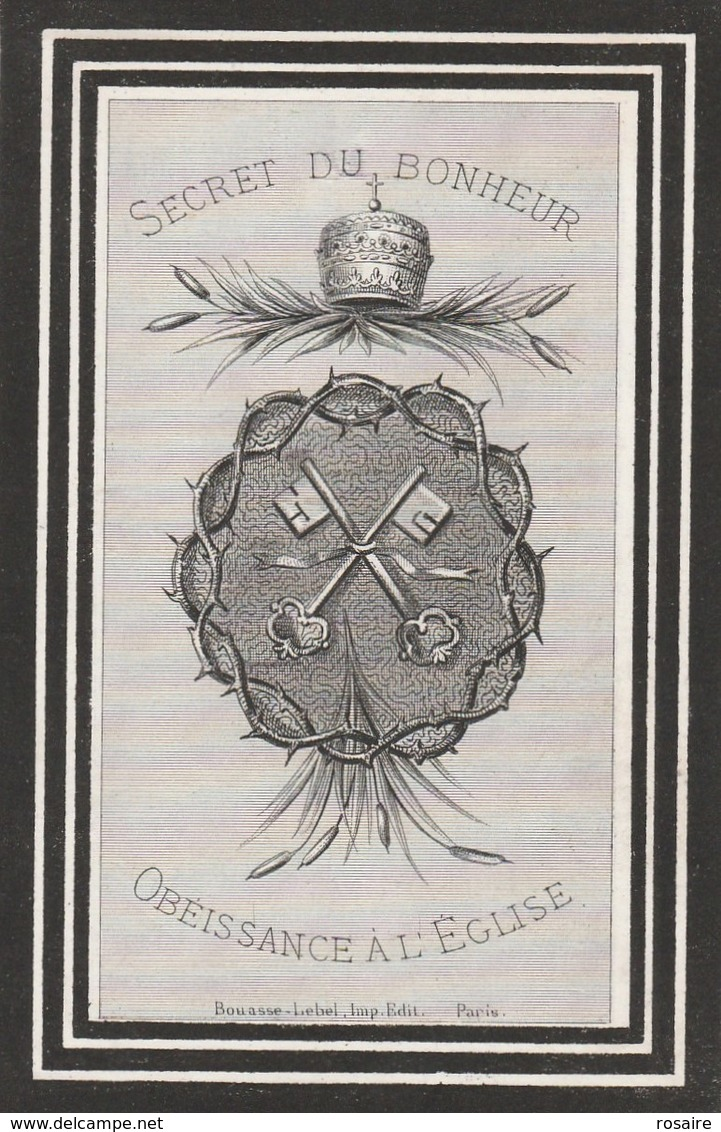 Alphonse Jan Baptiste Joseph Coulon-mouscron 1843-1882 - Images Religieuses