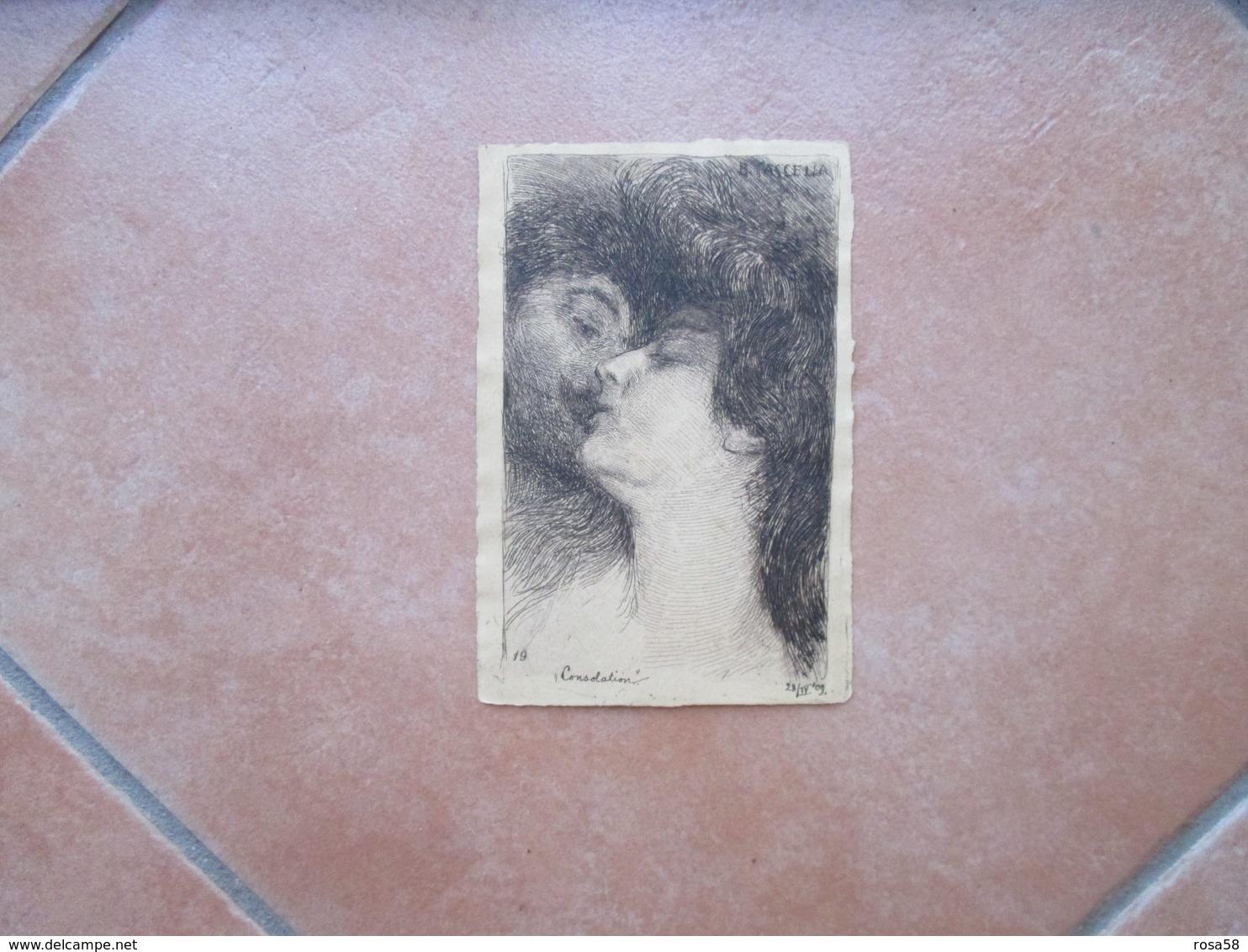 1909 Basilio CASCELLA Consolation Viaggiata - Non Classés
