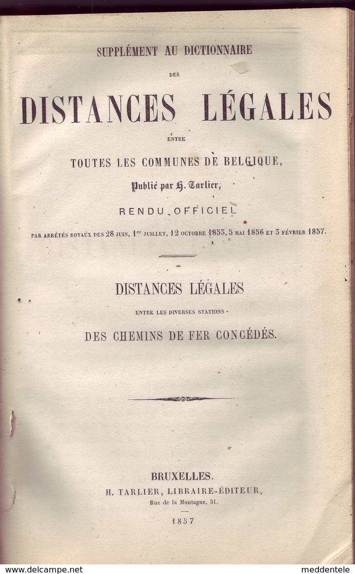 Livre De 1856 Liste Des Communes Et Gares De Belgique Avec Relations Chemin De Fer + Télégraphe - Strade Ferrate