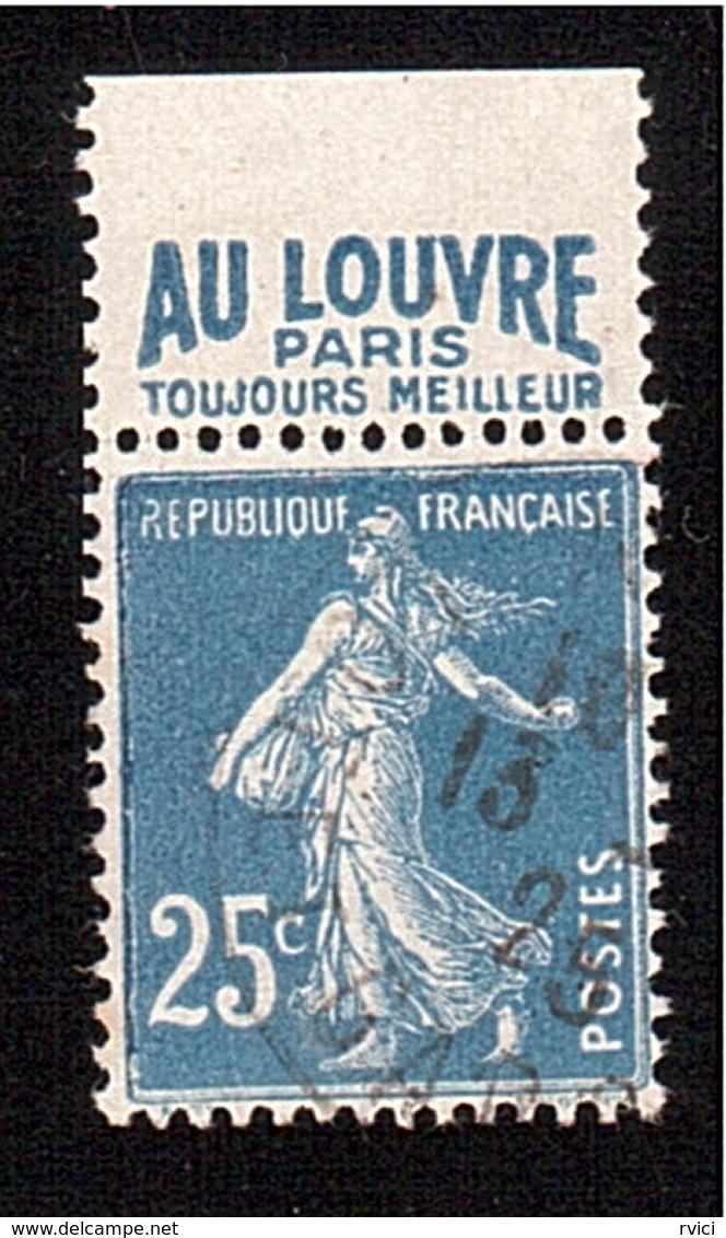 SEMEUSE 25c PUB LE LOUVRE N° 140 De Carnet - Advertising