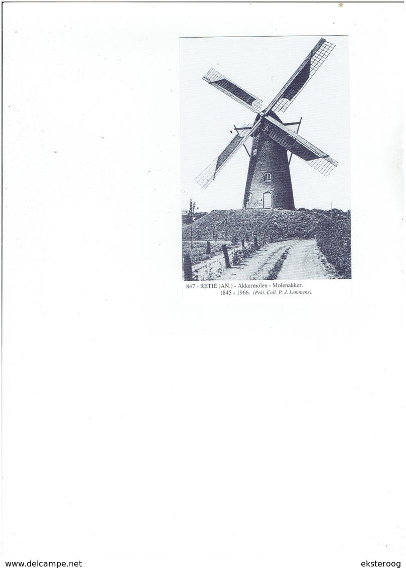 Retie 847 - Akkermolen - Molenakker - 1845-1966 Coll, Lemmens - Retie