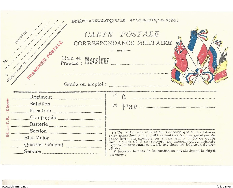 CARTE EN FRANCHISE MILITAIRE  - NON ECRITE - TRES BON ETAT - Storia Postale
