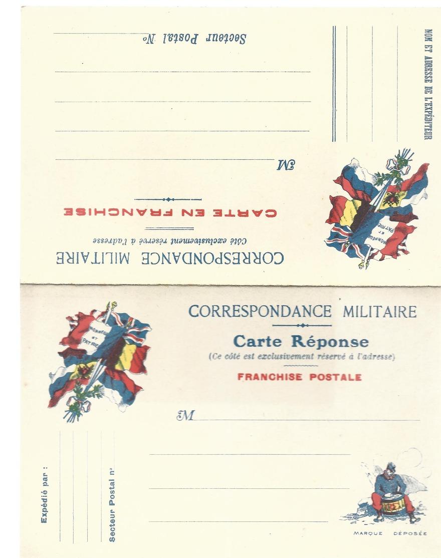 CARTE EN FRANCHISE MILITAIRE  - CARTE DOUBLE  - NON ECRITE - TRES BON ETAT - Tarjetas De Franquicia Militare