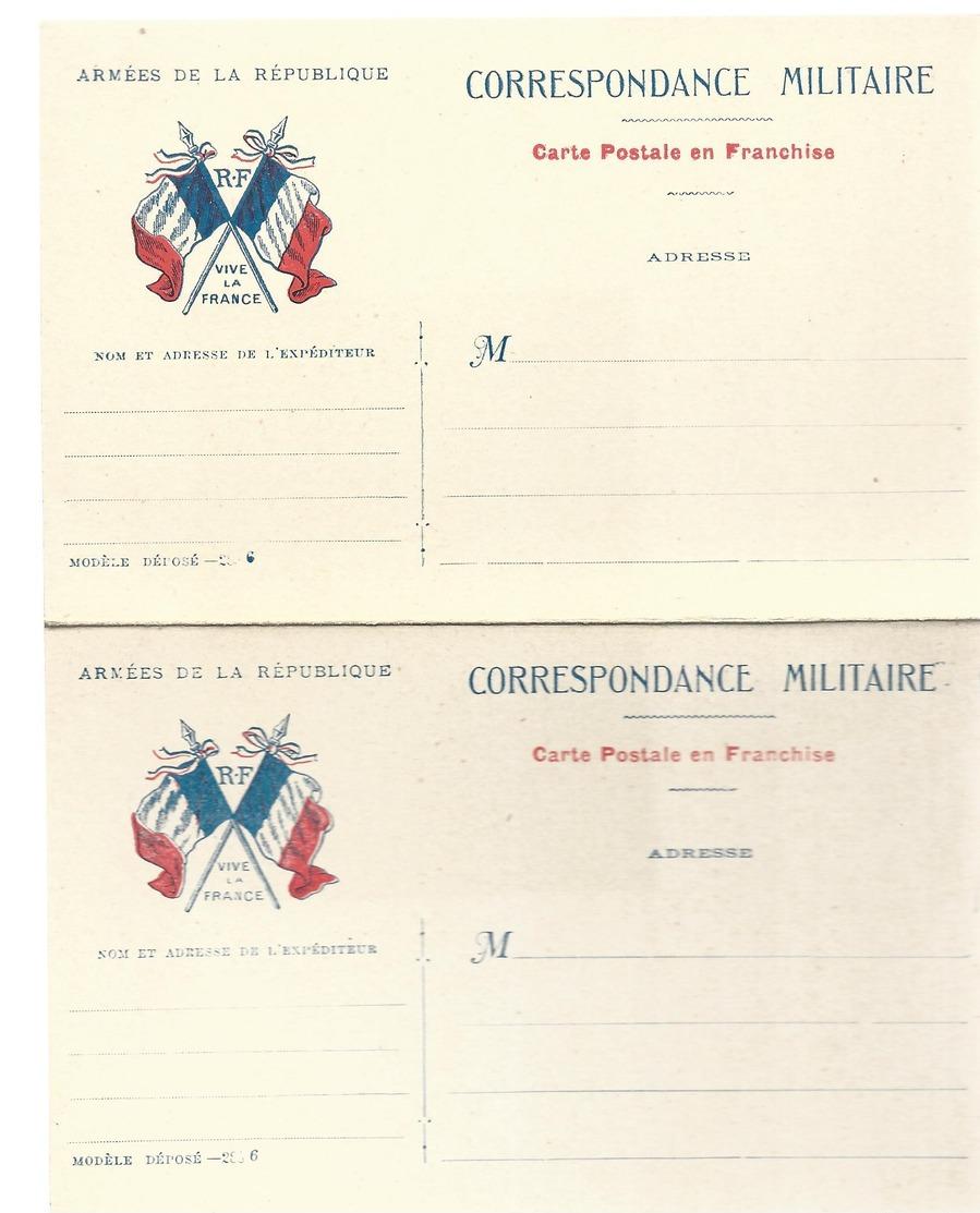 CARTE EN FRANCHISE MILITAIRE  - CARTE DOUBLE - VIVE LA FRANCE - NON ECRITE - TRES BON ETAT - Tarjetas De Franquicia Militare