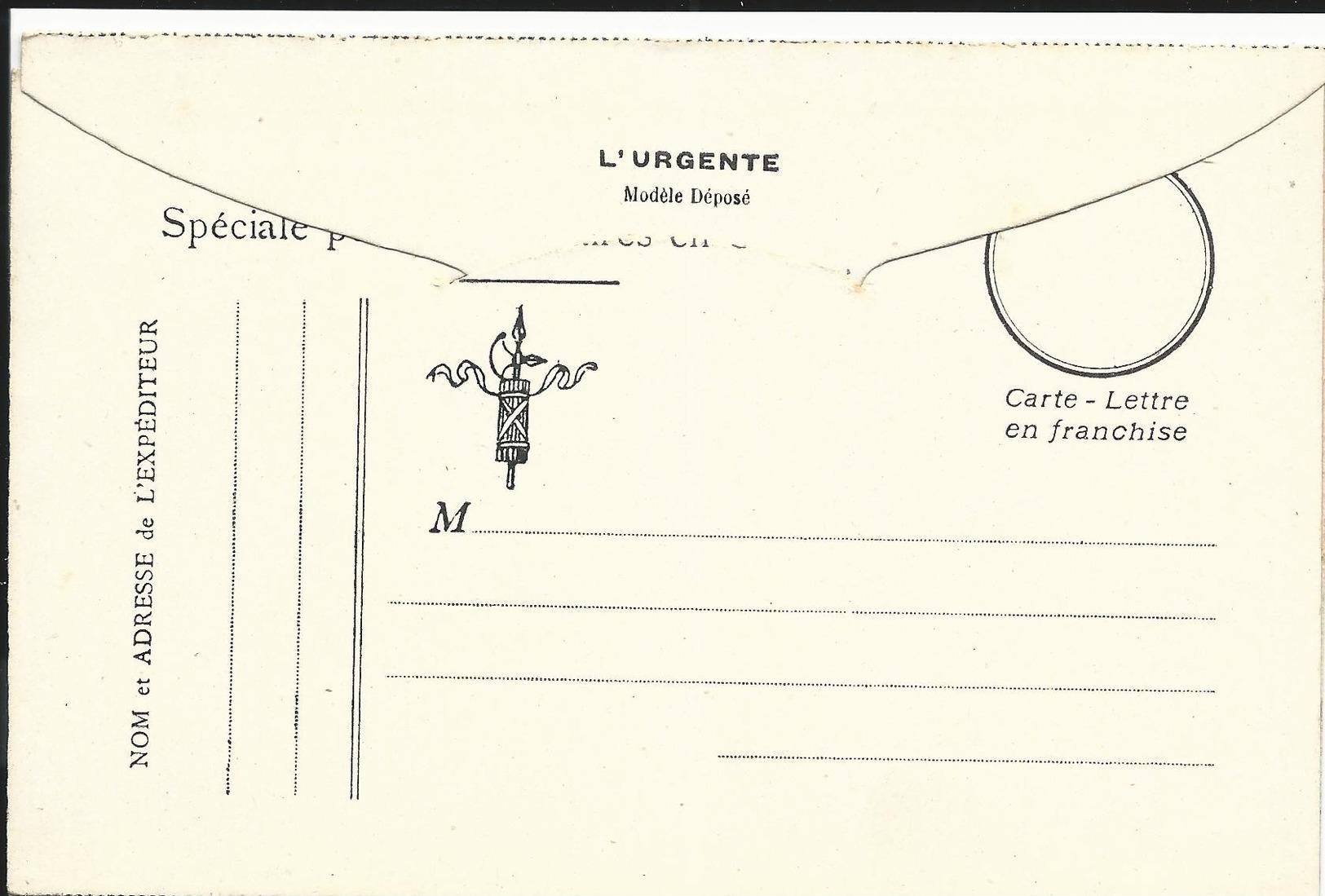 CARTE EN FRANCHISE MILITAIRE  - CARTE DOUBLE (25)  - NON ECRITE - TRES BON ETAT - Cartes De Franchise Militaire