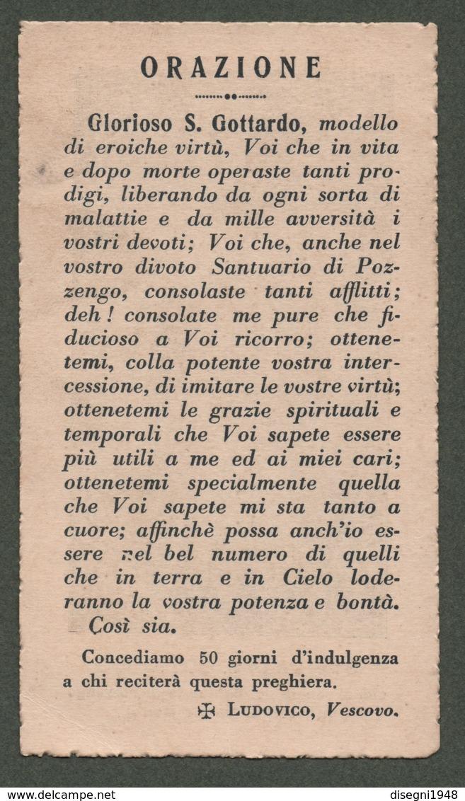 """08277 """"STATUA DI SAN GOTTARDO CHE SI VENERA NEL SANTUARIO DI POZZENGO (DIOCESI DI CASALE MONFERRATO)"""" IMM. RELIG. ORIG. - Santini"""