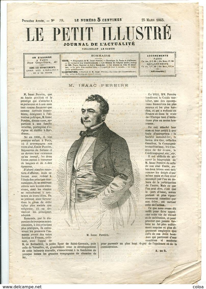 Isaac PEREIRE 1865 - 1850 - 1899