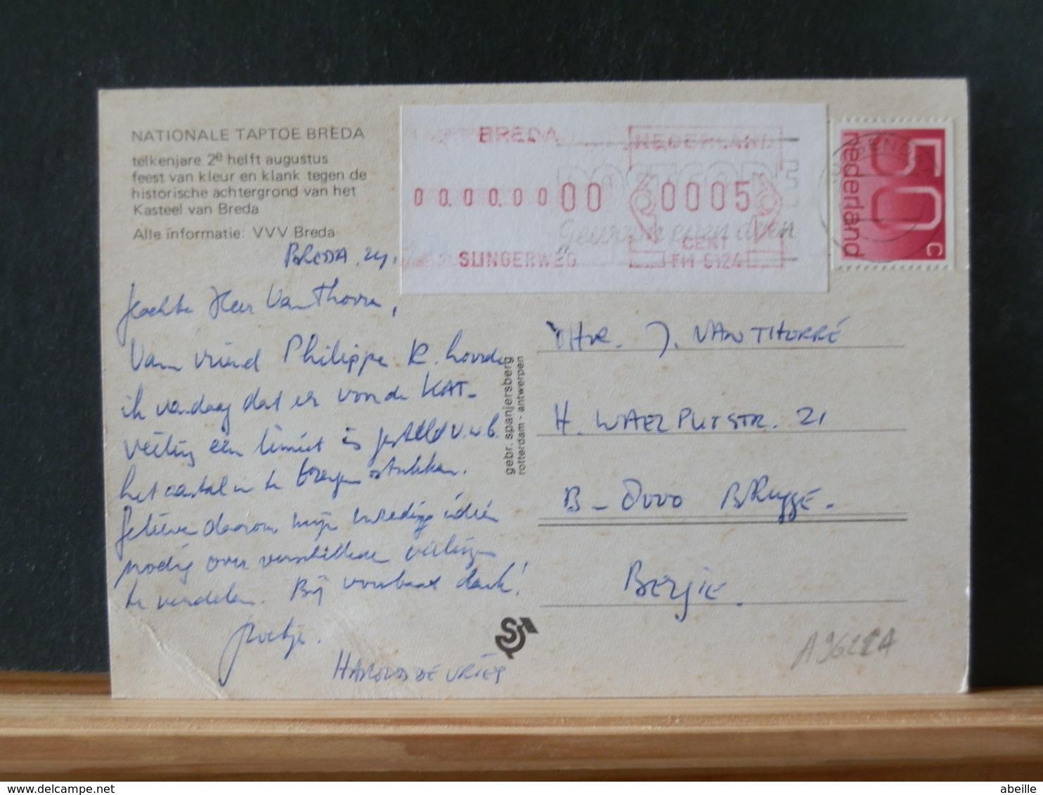 A9622A   BRIEFKAART NAAR BELG. - Period 1980-... (Beatrix)