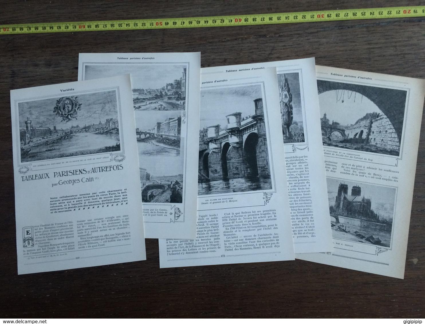 1909 JST TABLEAUX PARISIENS D AUTREFOIS QUAIS DU VIEUX PARIS - Colecciones