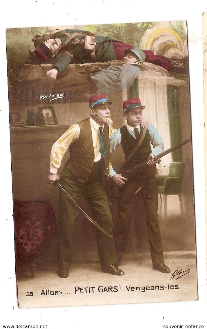 CPA Allons Petits Gars Vengeons Les Boulanger Propagande Guerre 1914 1918 1915 - Oorlog 1914-18