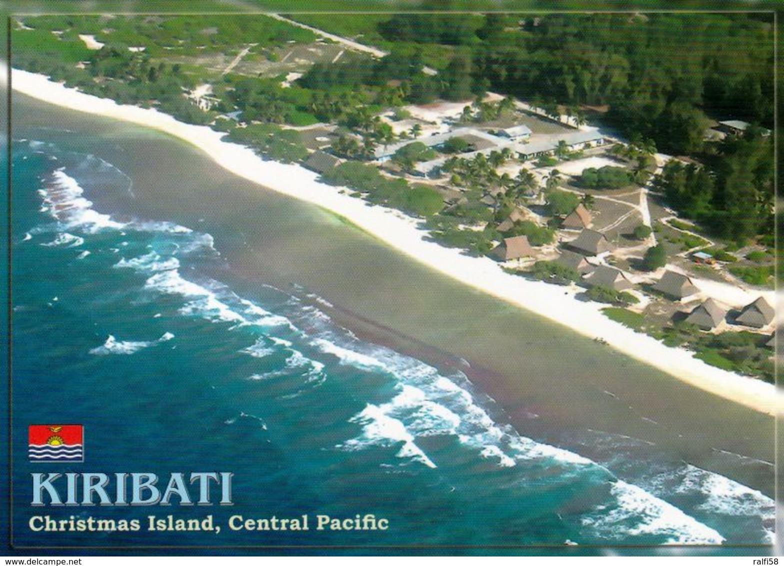 1 AK Kiribati * Christmas Island - Now Kiritimati Island - Aerial View Of The Captain Cook Hotel - Luftbildaufnahme * - Kiribati