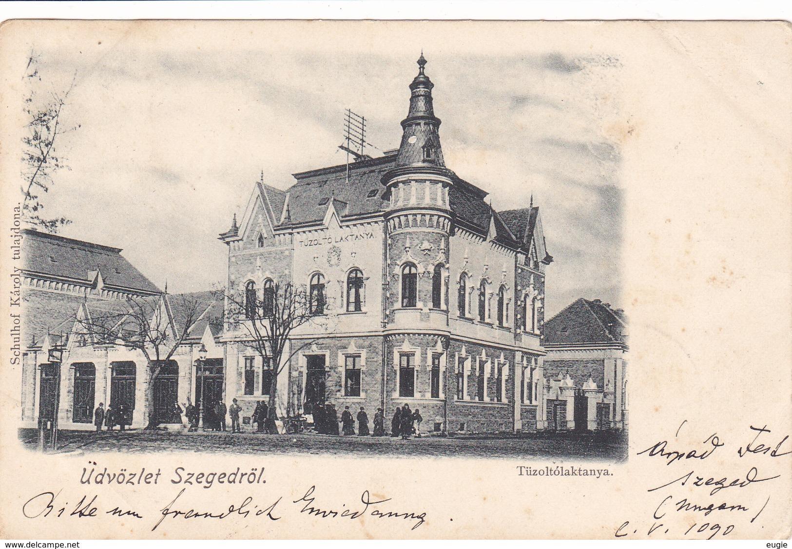 1071/ Udvozlet Szegedrol, Tuzoltolaktanya, 1899 - Ungheria