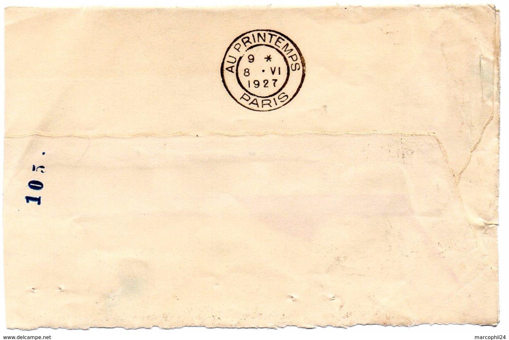 PARIS  1926 =  FLAMME FLIER Muette / BLOC DATEUR SEUL 'AU PRINTEMPS' - Postmark Collection (Covers)