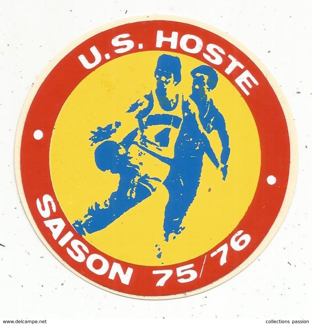 Autocollant , Sports , U.S. HOSTE , BASKET BALL ,  Saison 75/76 - Autocollants