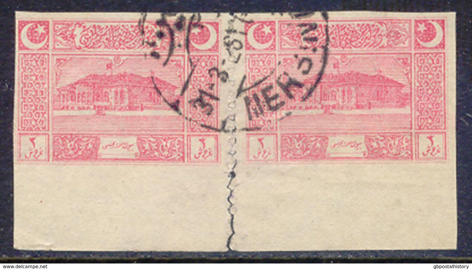 TÜRKEI 1922 Gebäude Der Nationalversammlung Ankara (3) Pia. Rosa UNGEZÄHNT PAAR - Gebraucht