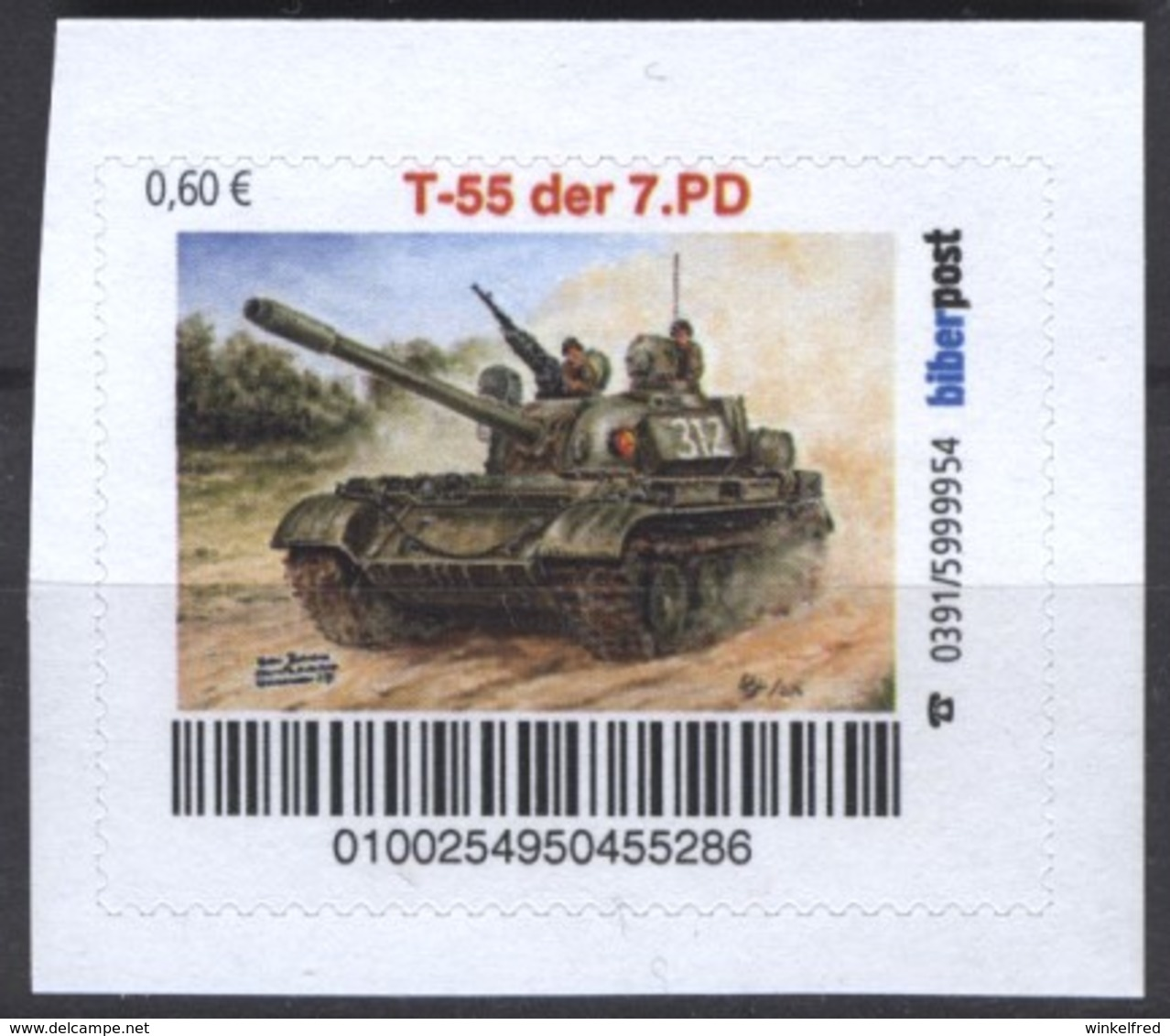 Biber Post T 55 Der 7. PD (Kampfpanzer NVA) (60) G857 - [7] Repubblica Federale