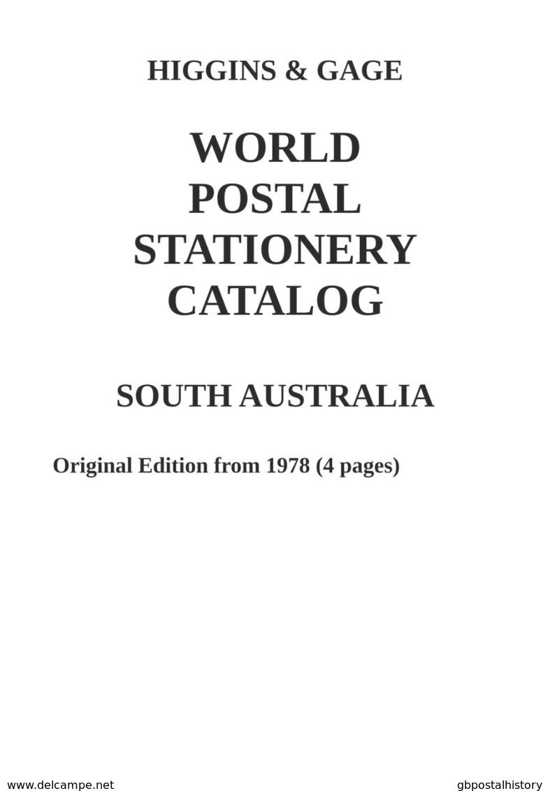Higgins & Gage WORLD POSTAL STATIONERY CATALOG SOUTH AUSTRALIA - Interi Postali