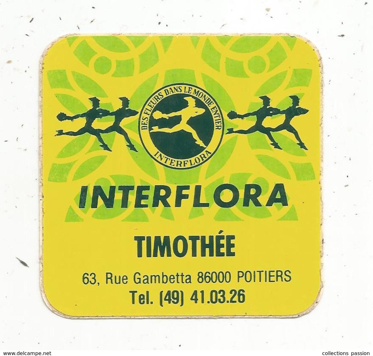 Autocollant , INTERFLORA ,  TIMOTHEE ,  POITIERS - Autocollants