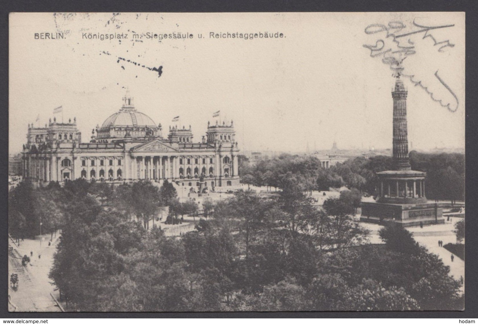"""""""Berlin"""", Königsplatz, 1912 Gelaufen - Mitte"""