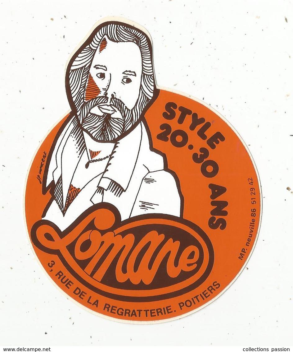 Autocollant ,  LOMANE ,  Style 20-30 Ans ,  Poitiers - Autocollants