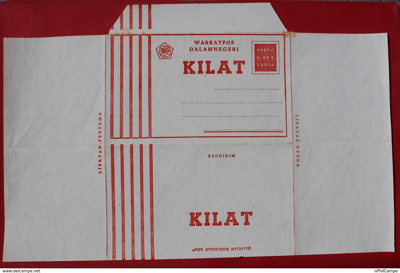 Indonesia Local Aerogramme Stamped Stationary AVION.KILAT Unused Mint - Indonesia