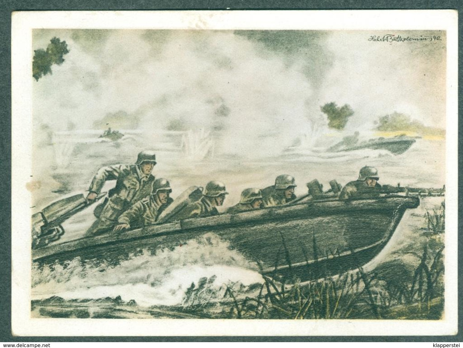 WW2 Wehrmachts Postkarten Sturmbootpioniere Armée Allemande Militaria - War 1939-45