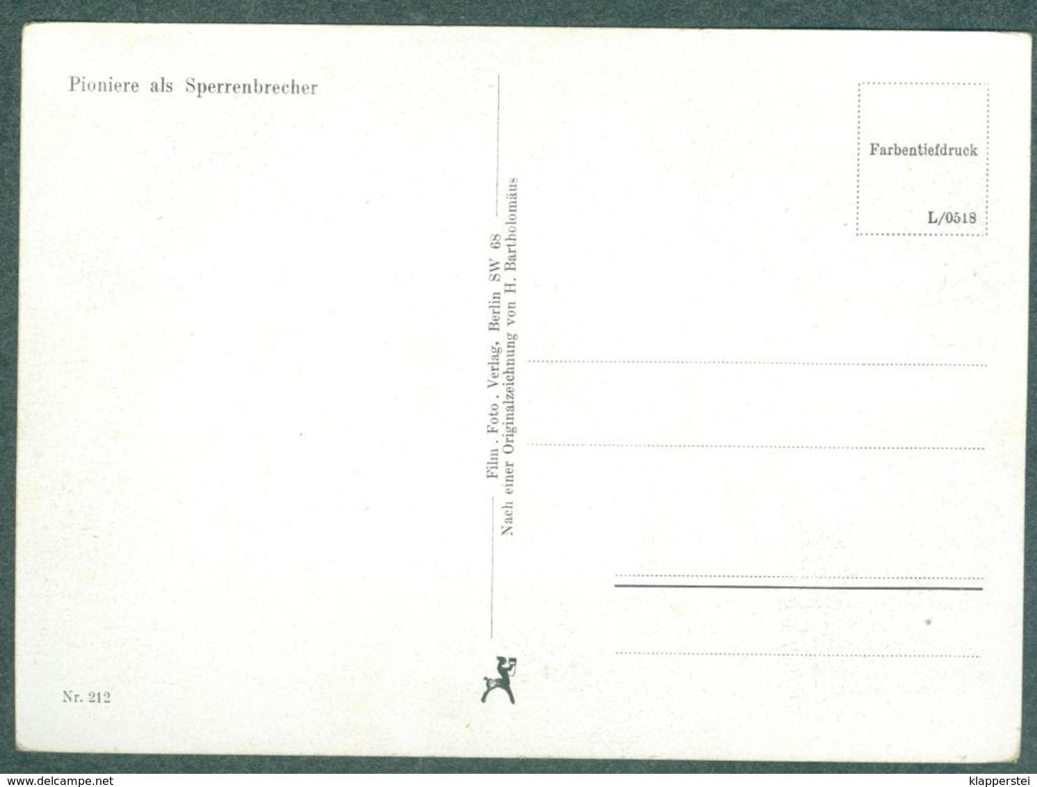 WW2 Wehrmachts Postkarten Pioniere Als Sperrenbrecher Armée Allemande Militaria - Weltkrieg 1939-45