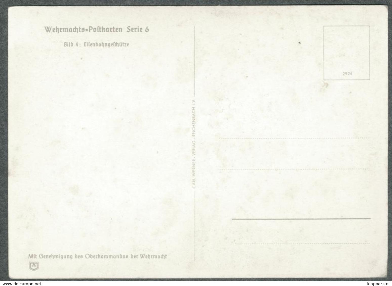 WW2 Wehrmachts Postkarten Eisenbahngeschütze  Armée Allemande Militaria - Weltkrieg 1939-45