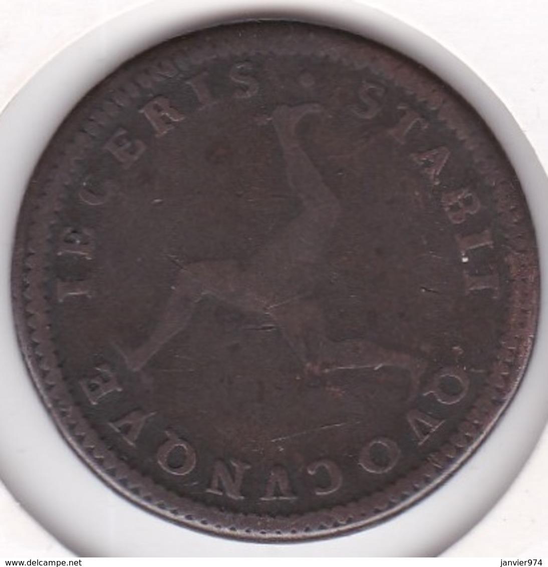 Isle Of Man 1 Penny 1786 George III , En Cuivre. KM# 9.1 - Regionale Währungen