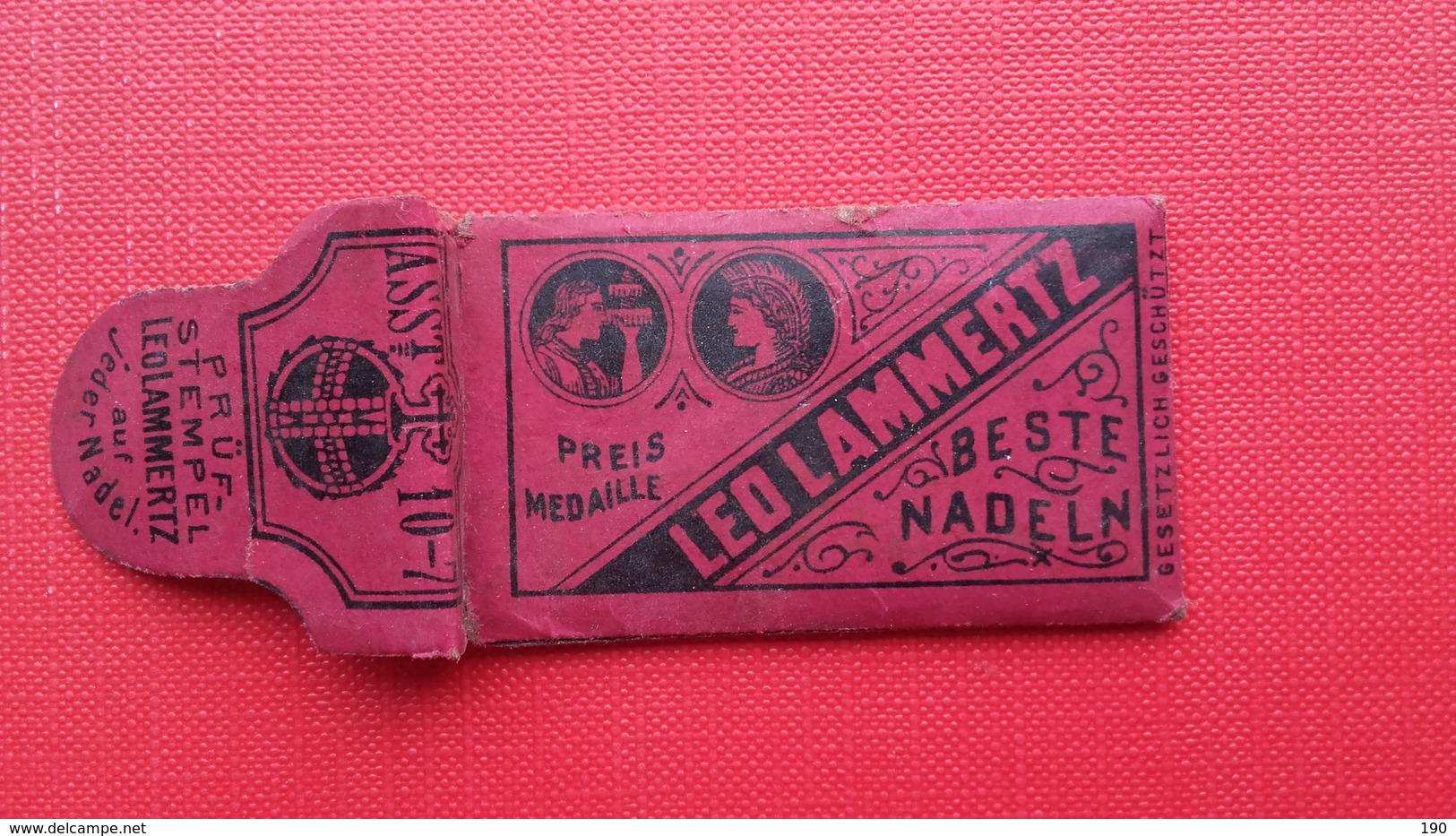LEO LAMMERTZ-AACHEN.BESTE NADELN - Publicités