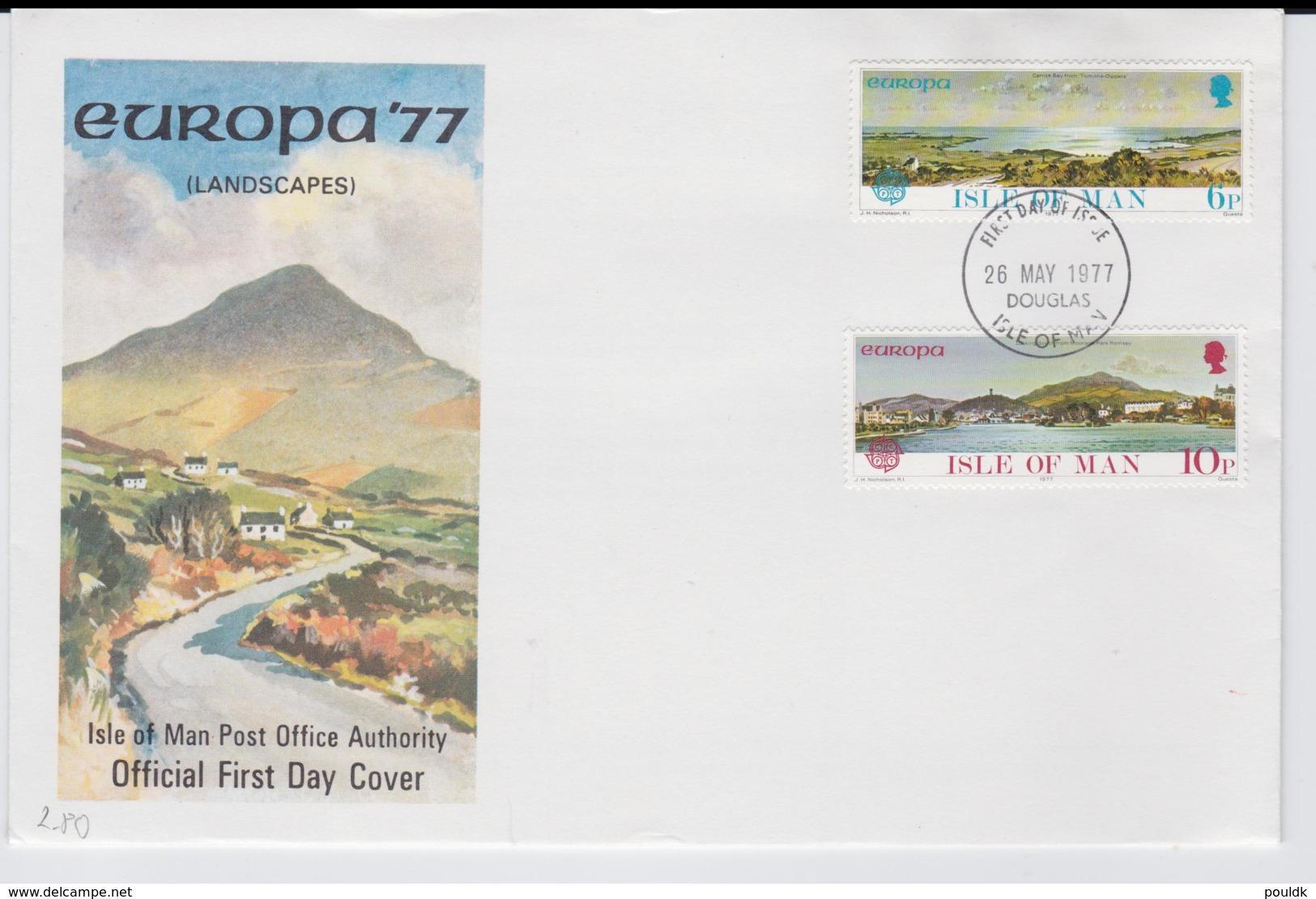 Isle Of Man 1977 FDC Europa CEPT   (LAR6-42S) - Europa-CEPT